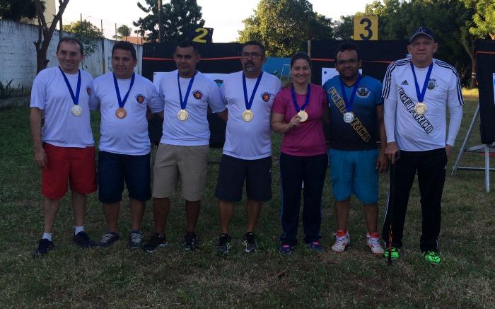 Atletas medalhistas do Campeonato Couto Alvarez de Tiro com Arco Indoor